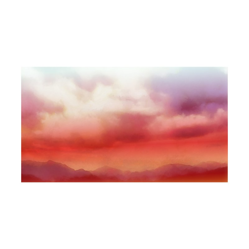Red Mountains and Matching Clouds with Purple Women's Cut & Sew by LiftYourWorld's Artist Shop