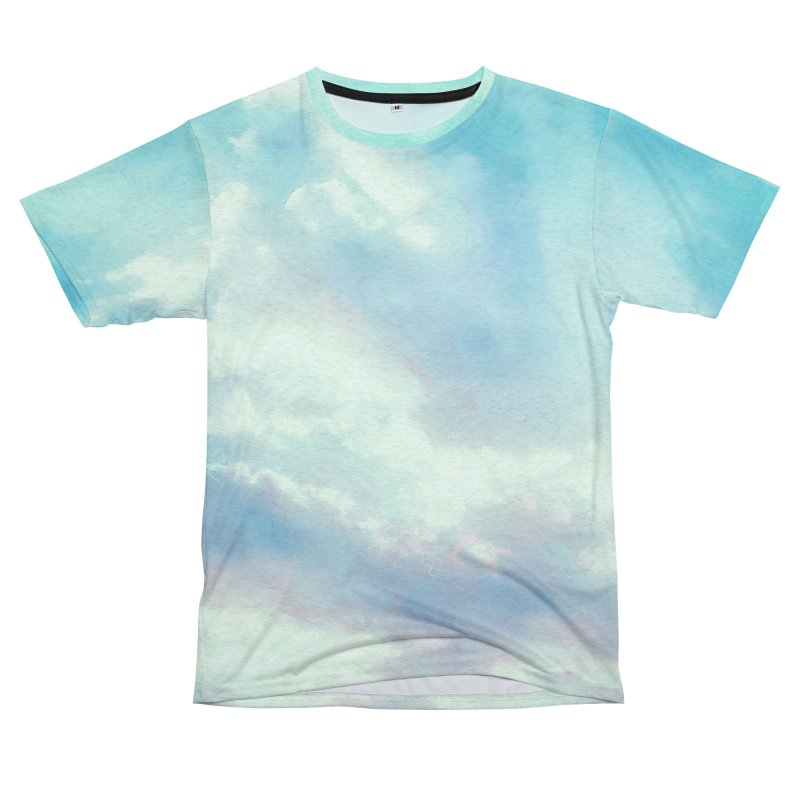 Clouds Turquoise, Blue, and Pink Women's Cut & Sew by LiftYourWorld's Artist Shop