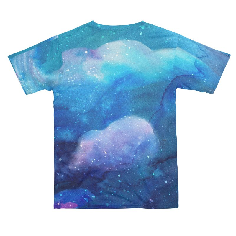 Watercolor Clouds in Space Teal and Purple Women's Cut & Sew by LiftYourWorld's Artist Shop