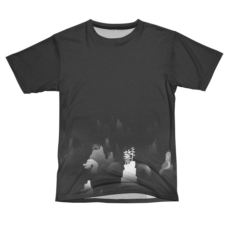 Dragon_Mountains_v4 Women's Cut & Sew by LiftYourWorld's Artist Shop