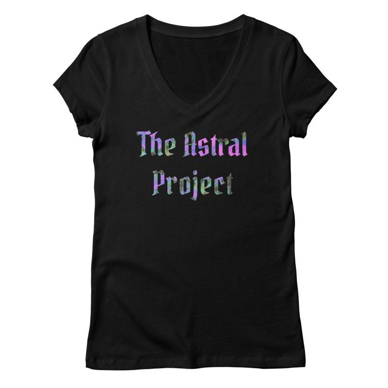 Tie Dye Astral Women's V-Neck by LilGood's Artist Shop