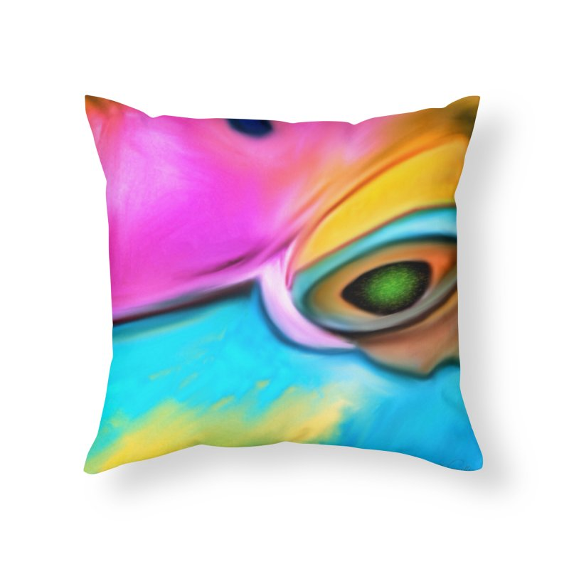Parrot Glow in Throw Pillow by LIQUID MOTION® Fine Art - Ocean & Marine Gifts & P