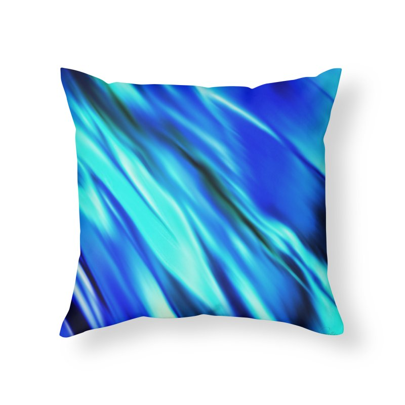 The Flow in Throw Pillow by LIQUID MOTION® Fine Art - Ocean & Marine Gifts & P