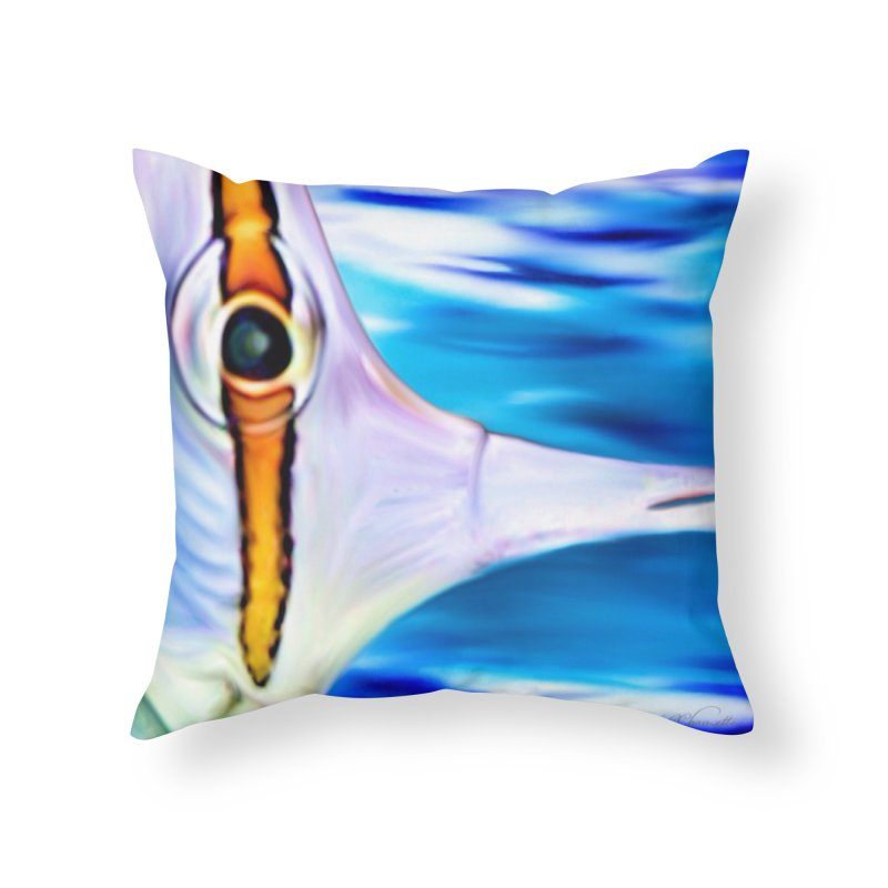 Butterfly - Long beaked Butterflyfish in Throw Pillow by LIQUID MOTION® Fine Art - Ocean & Marine Gifts & P