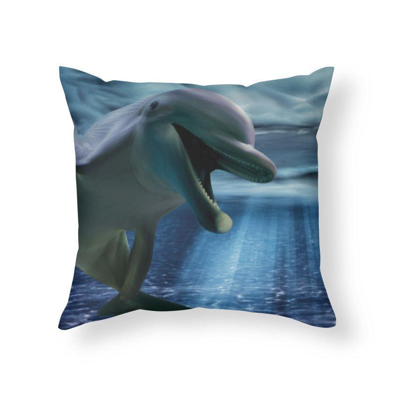 Smiley in Throw Pillow by LIQUID MOTION® Fine Art - Ocean & Marine Gifts & P