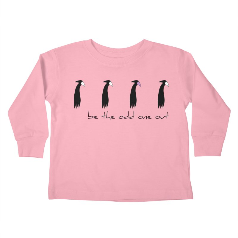 be the odd one out Kids Toddler Longsleeve T-Shirt by The Little Fears