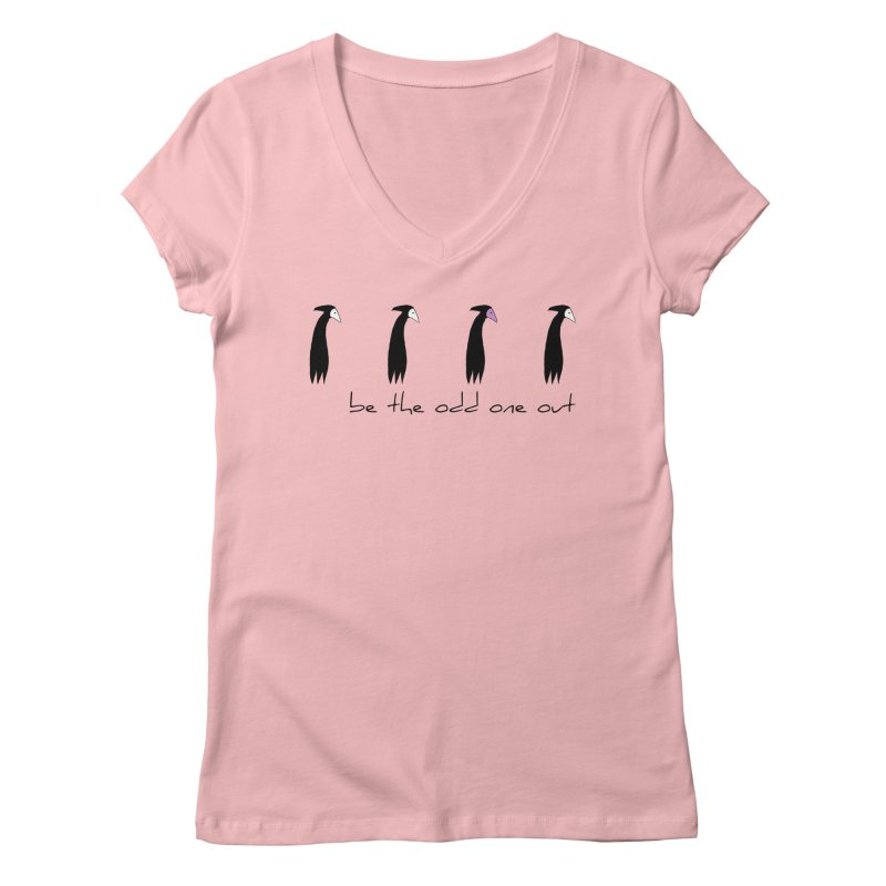 be the odd one out Women's Regular V-Neck by The Little Fears