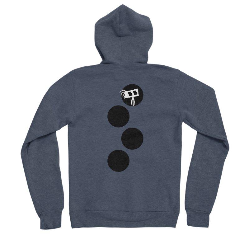 Sprites Dots Men's Sponge Fleece Zip-Up Hoody by The Little Fears
