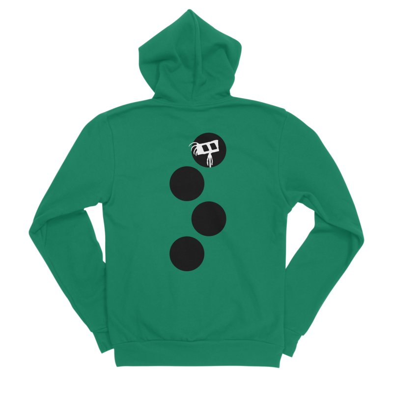 Sprites Dots Women's Sponge Fleece Zip-Up Hoody by The Little Fears