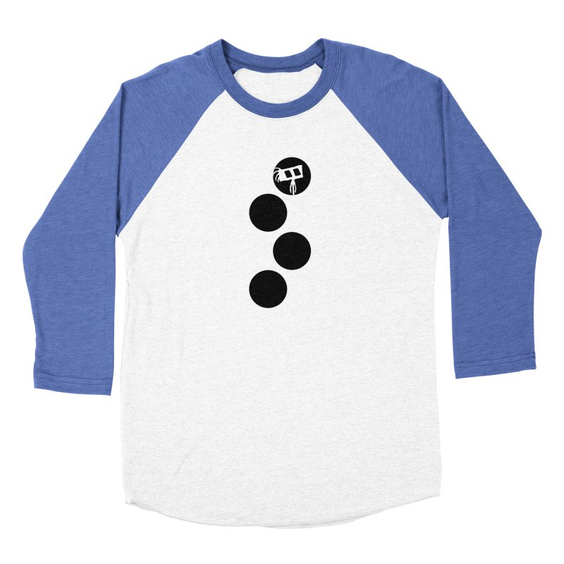 Sprites Dots Men's Baseball Triblend Longsleeve T-Shirt by The Little Fears