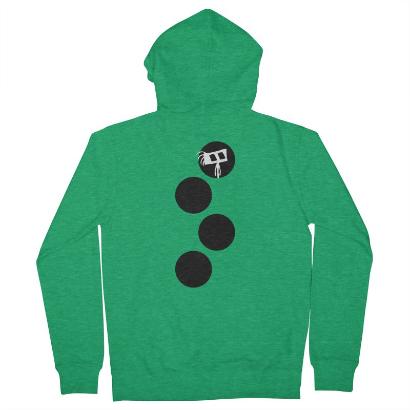 Sprites Dots Men's Zip-Up Hoody by The Little Fears