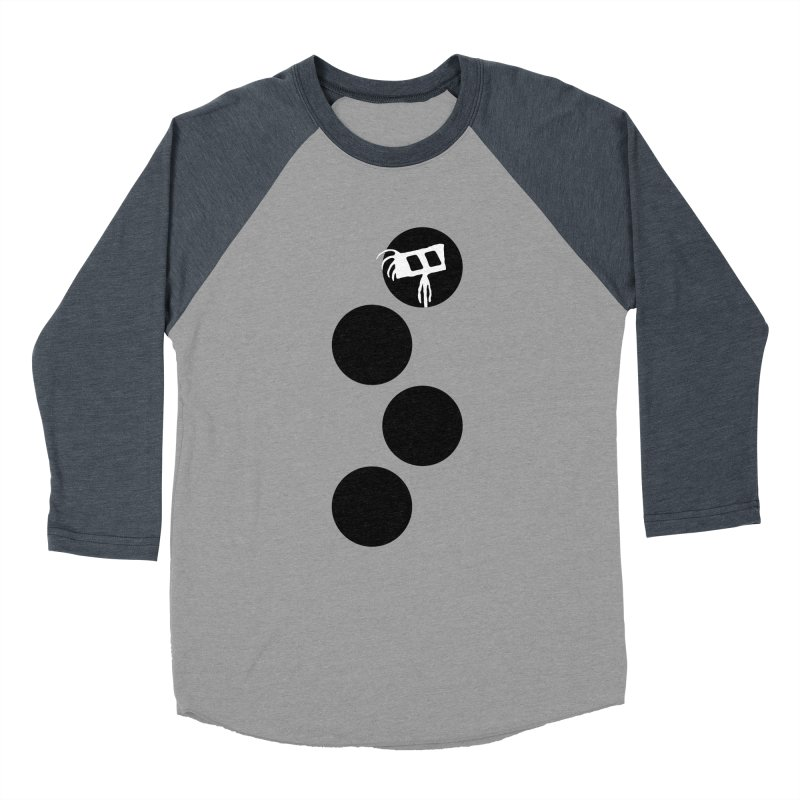 Sprites Dots Men's Baseball Triblend Longsleeve T-Shirt by The Little Fears
