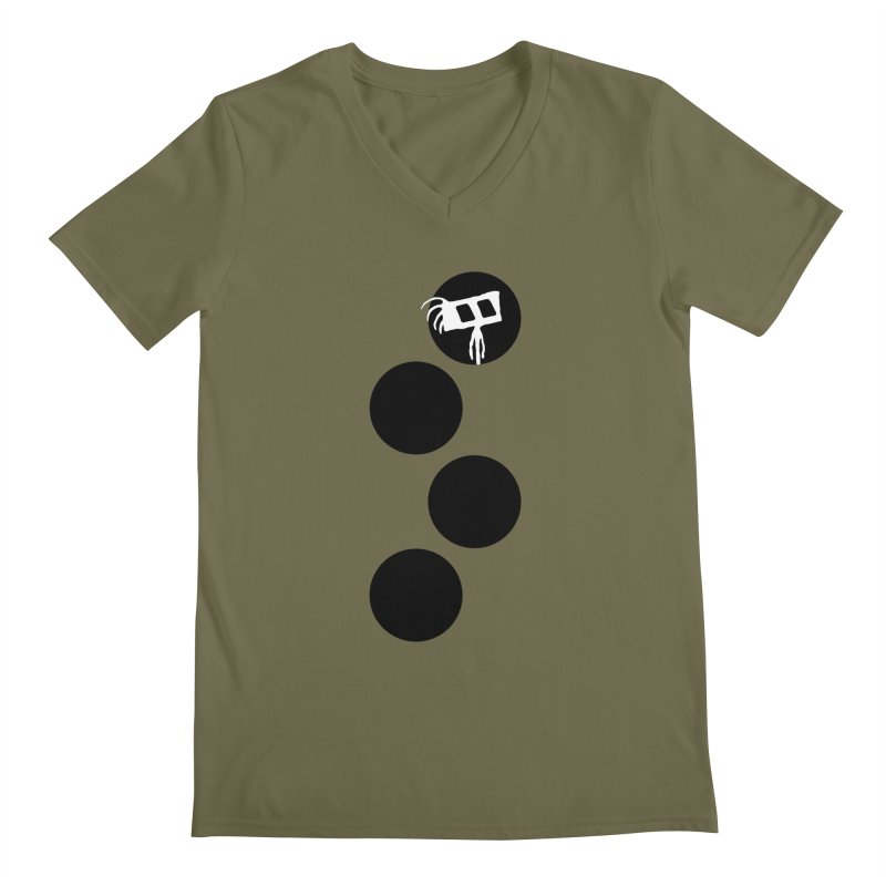 Sprites Dots Men's Regular V-Neck by The Little Fears