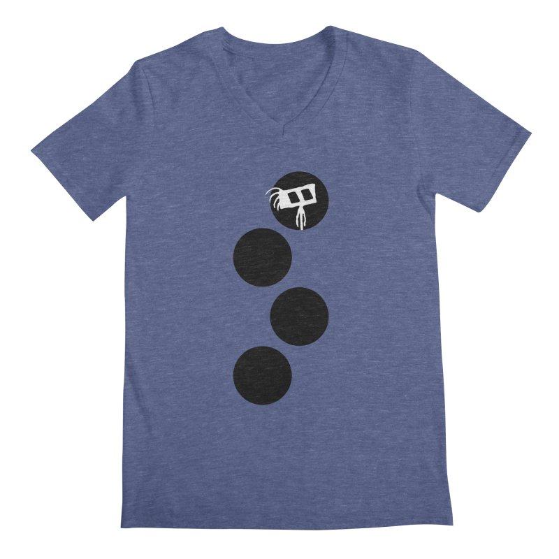 Sprites Dots Men's Regular V-Neck by The Little Fears