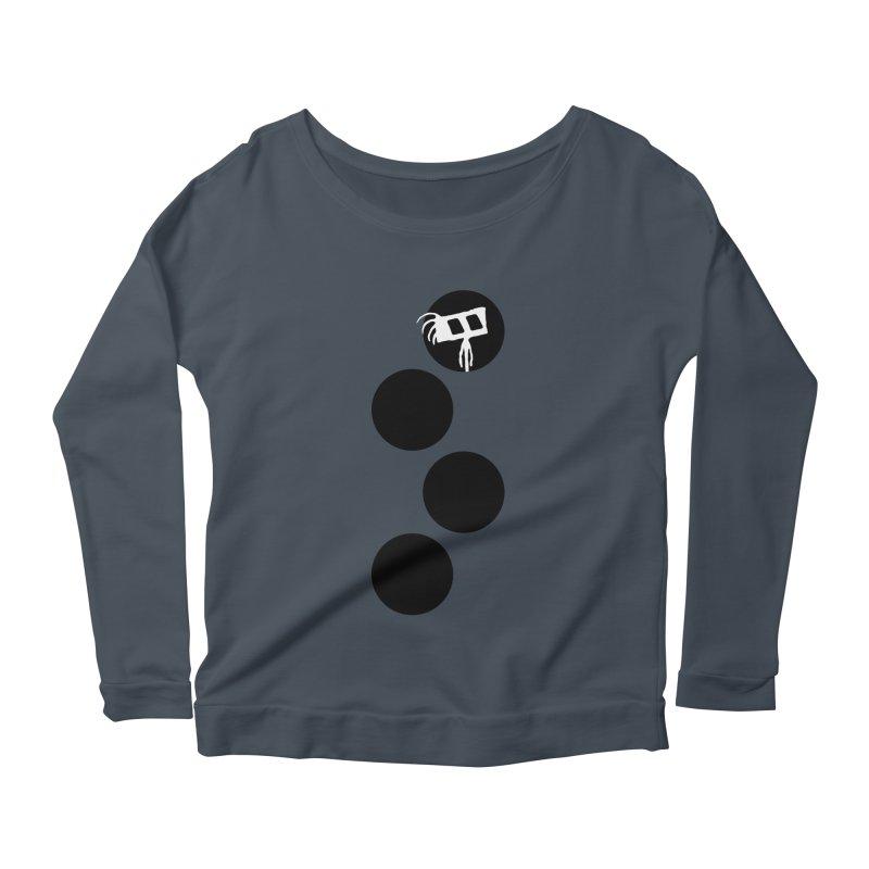 Sprites Dots Women's Scoop Neck Longsleeve T-Shirt by The Little Fears