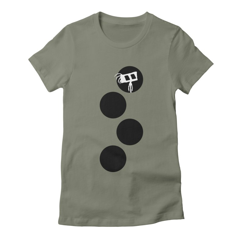 Sprites Dots Women's Fitted T-Shirt by The Little Fears