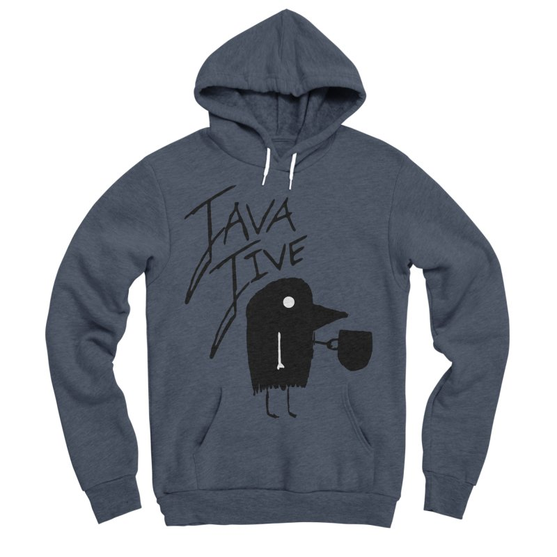 Java Jive Men's Sponge Fleece Pullover Hoody by The Little Fears