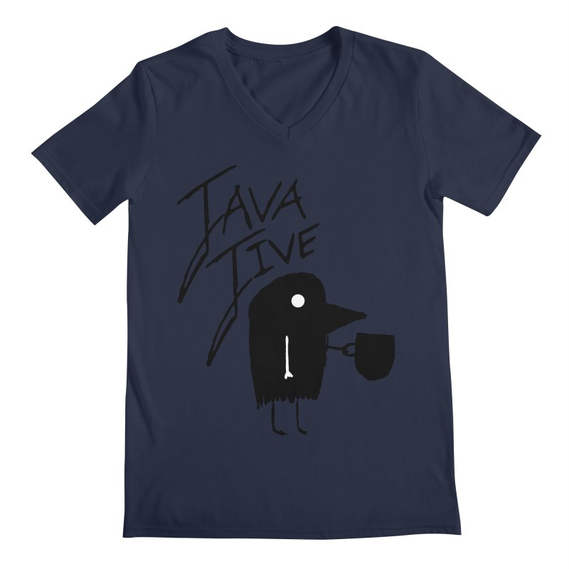 Java Jive Men's Regular V-Neck by The Little Fears