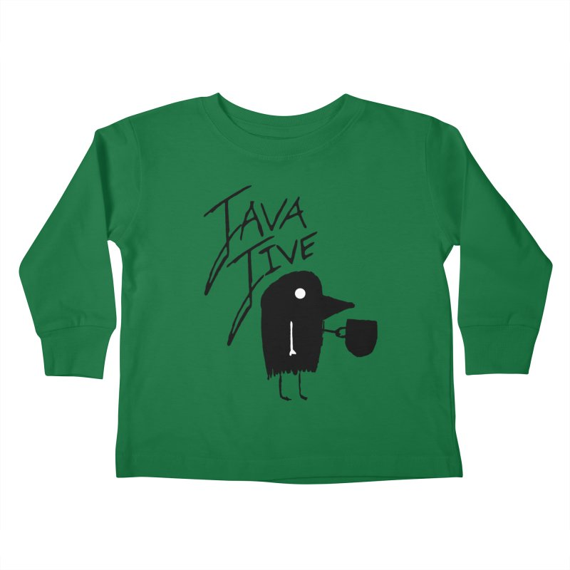 Java Jive Kids Toddler Longsleeve T-Shirt by The Little Fears