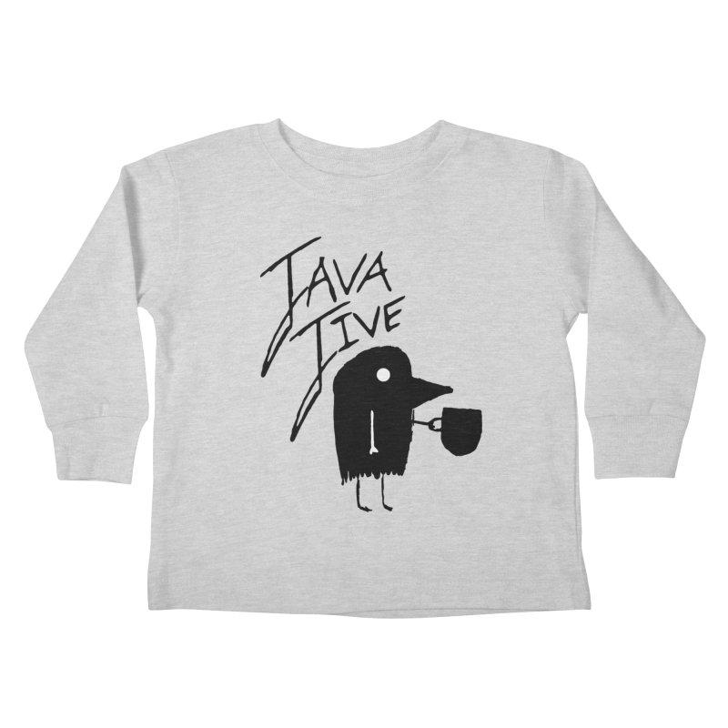 Java Jive Kids Toddler Longsleeve T-Shirt by The Little Fears