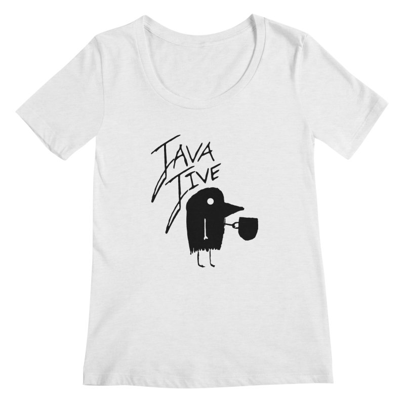 Java Jive Women's Regular Scoop Neck by The Little Fears