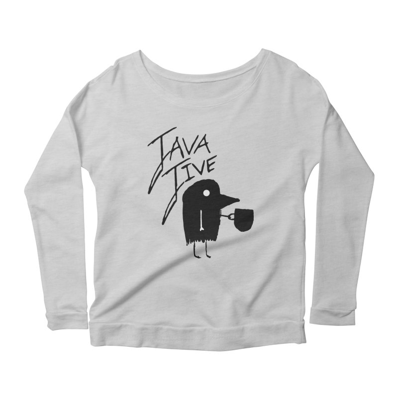 Java Jive Women's Scoop Neck Longsleeve T-Shirt by The Little Fears