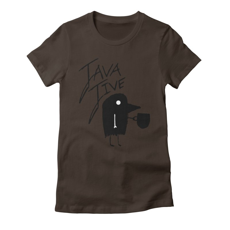 Java Jive Women's Fitted T-Shirt by The Little Fears