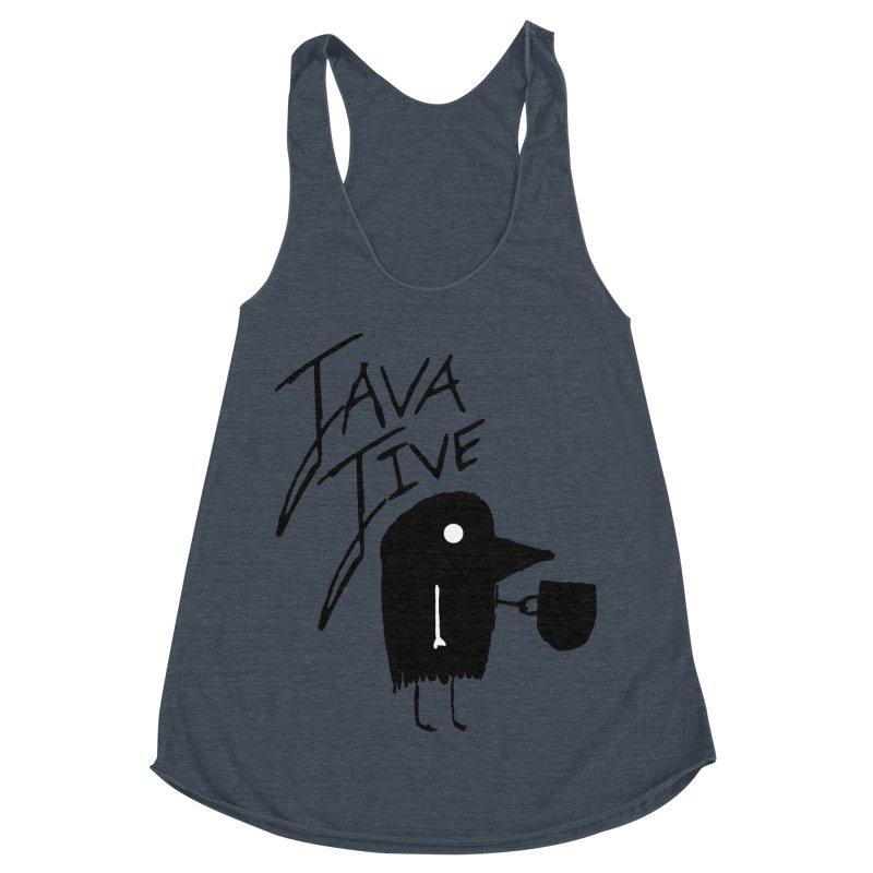 Java Jive Women's Racerback Triblend Tank by The Little Fears