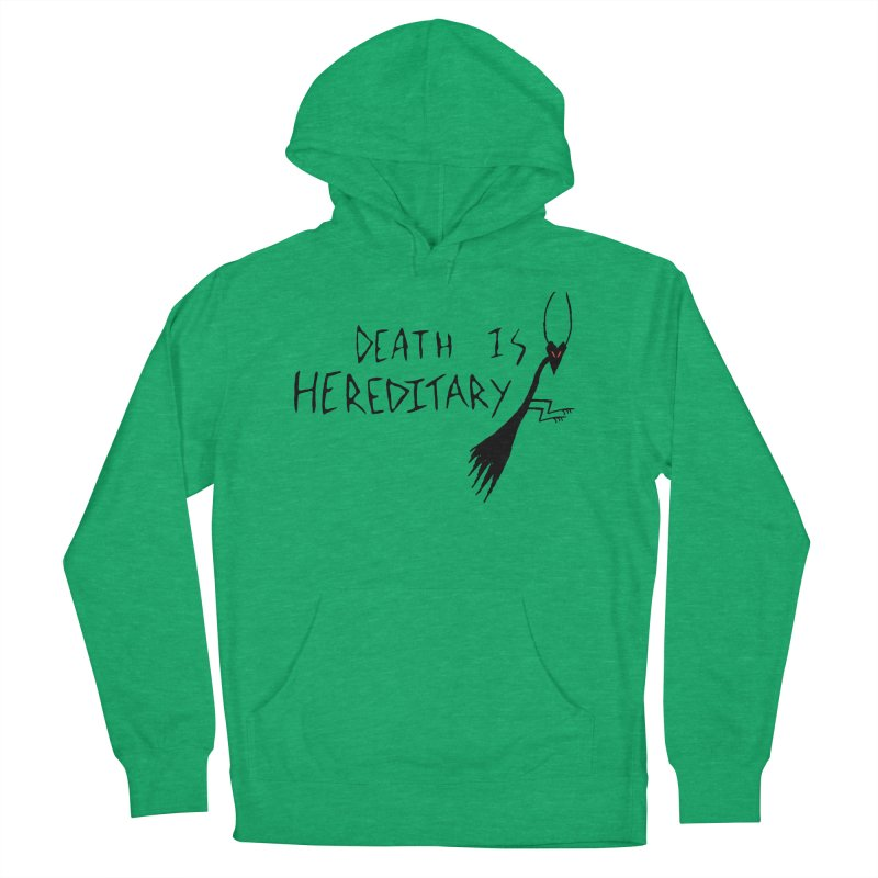 Death is Hereditary Women's French Terry Pullover Hoody by The Little Fears