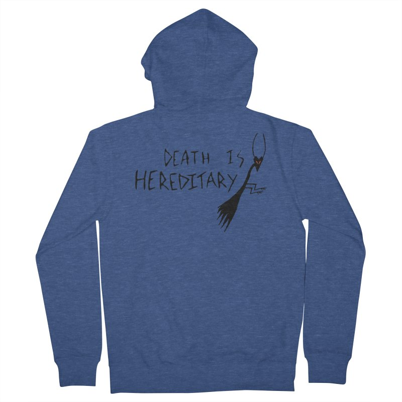 Death is Hereditary Men's French Terry Zip-Up Hoody by The Little Fears