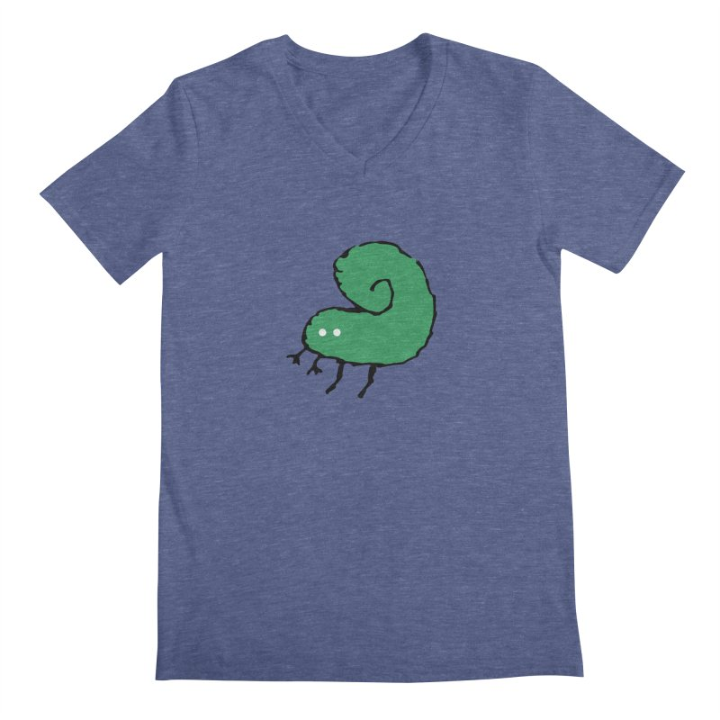 Green Bugly Men's V-Neck by The Little Fears