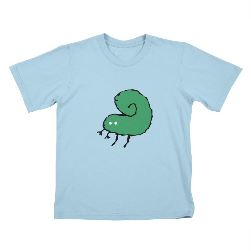 Green Bugly Kids T-shirt by The Little Fears