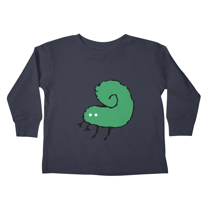 Green Bugly Kids Toddler Longsleeve T-Shirt by The Little Fears