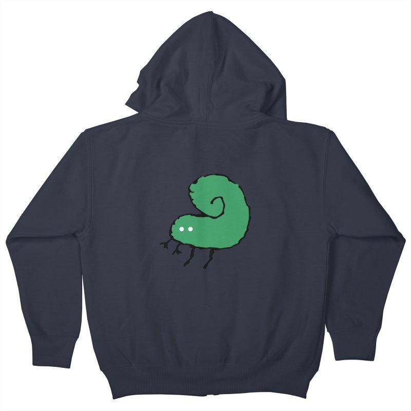Green Bugly Kids Zip-Up Hoody by The Little Fears