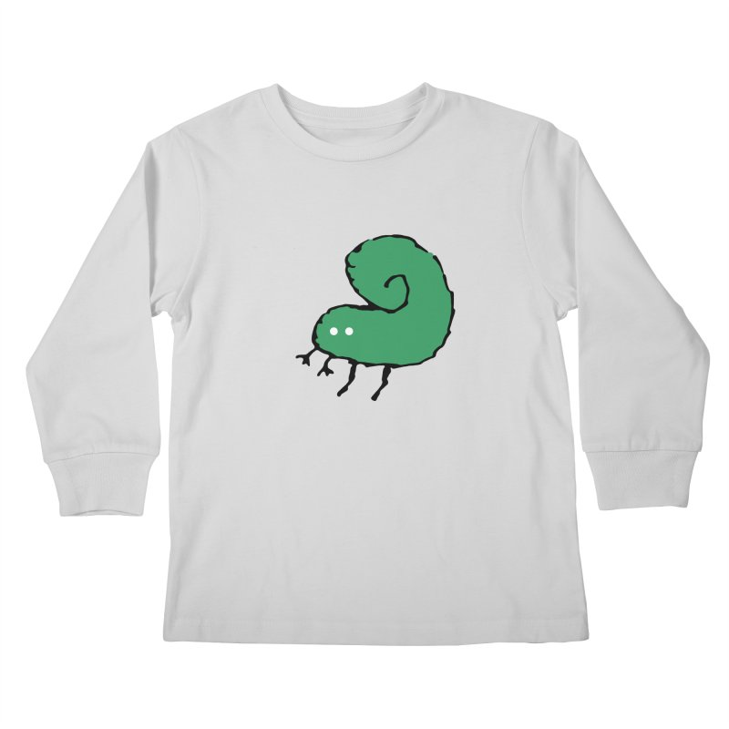 Green Bugly Kids Longsleeve T-Shirt by The Little Fears