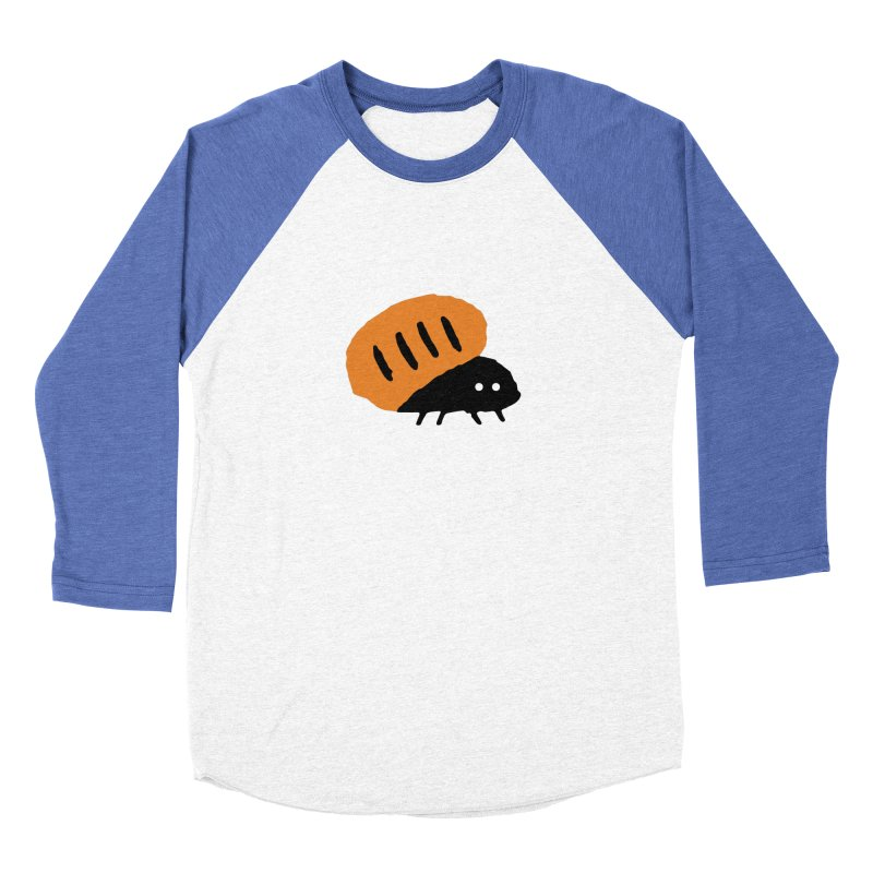Orange Bug Women's Baseball Triblend T-Shirt by The Little Fears