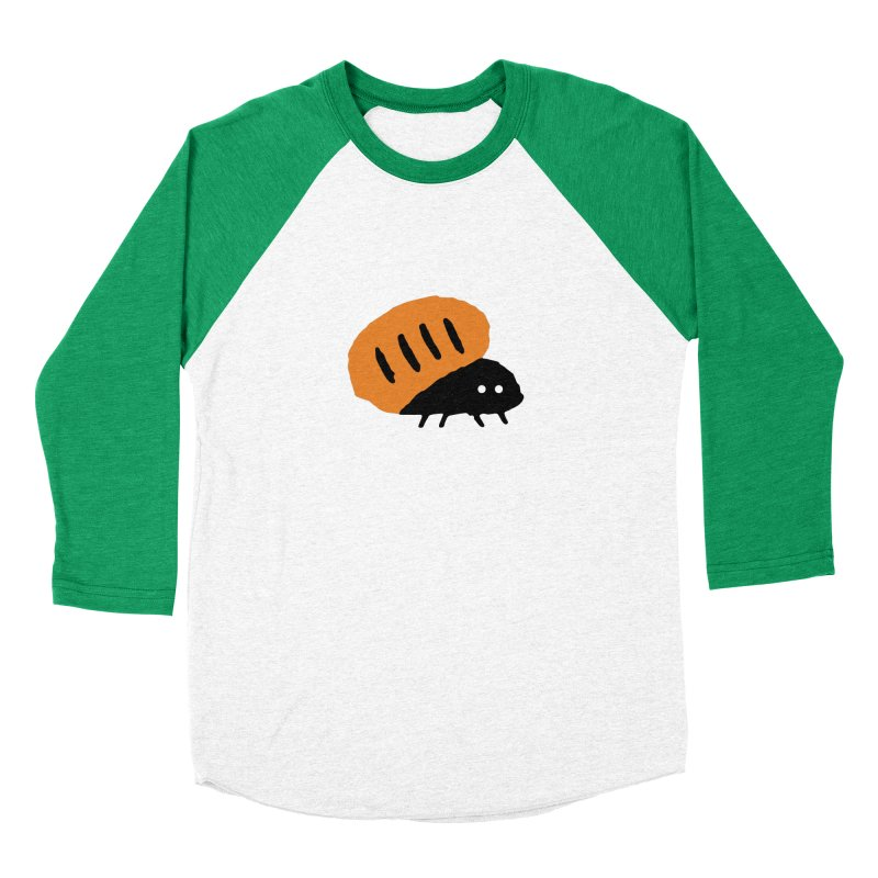Orange Bug Men's Baseball Triblend T-Shirt by The Little Fears