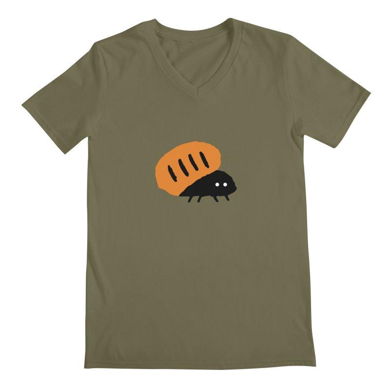 Orange Bug Men's V-Neck by The Little Fears