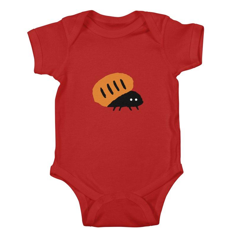 Orange Bug Kids Baby Bodysuit by The Little Fears