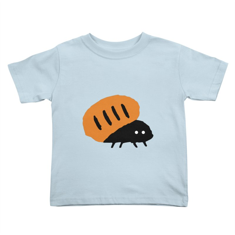 Orange Bug Kids Toddler T-Shirt by The Little Fears