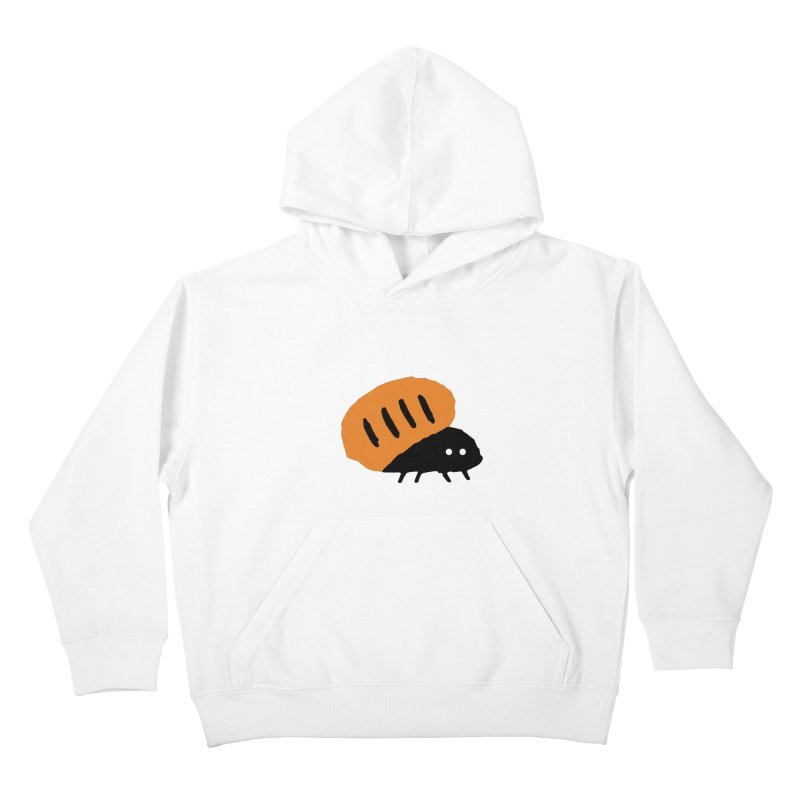 Orange Bug Kids Pullover Hoody by The Little Fears