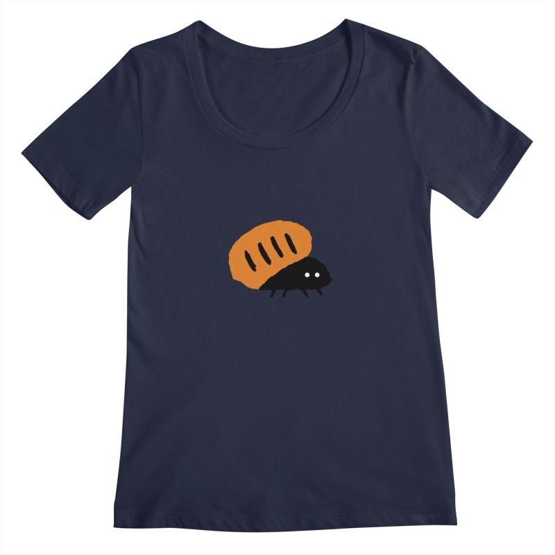 Orange Bug Women's Scoopneck by The Little Fears