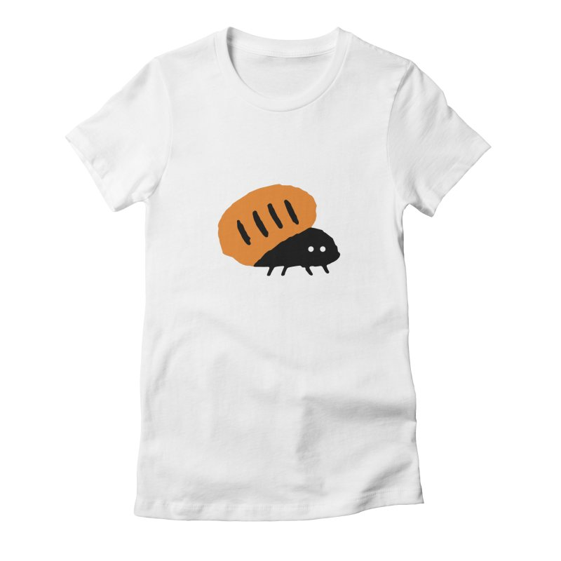 Orange Bug Women's Fitted T-Shirt by The Little Fears