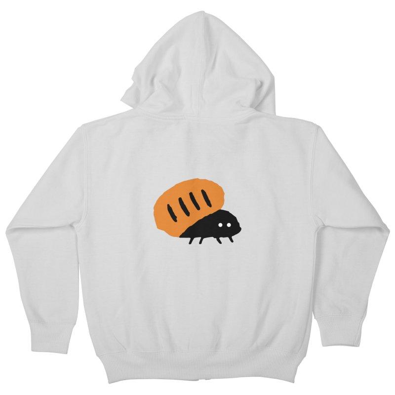 Orange Bug Kids Zip-Up Hoody by The Little Fears