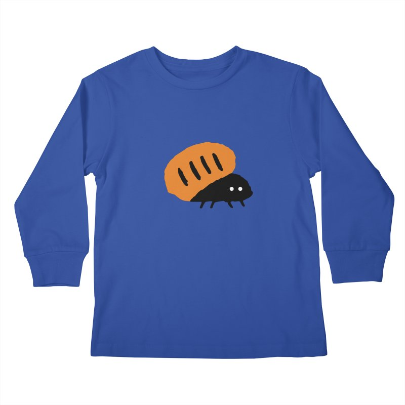 Orange Bug Kids Longsleeve T-Shirt by The Little Fears