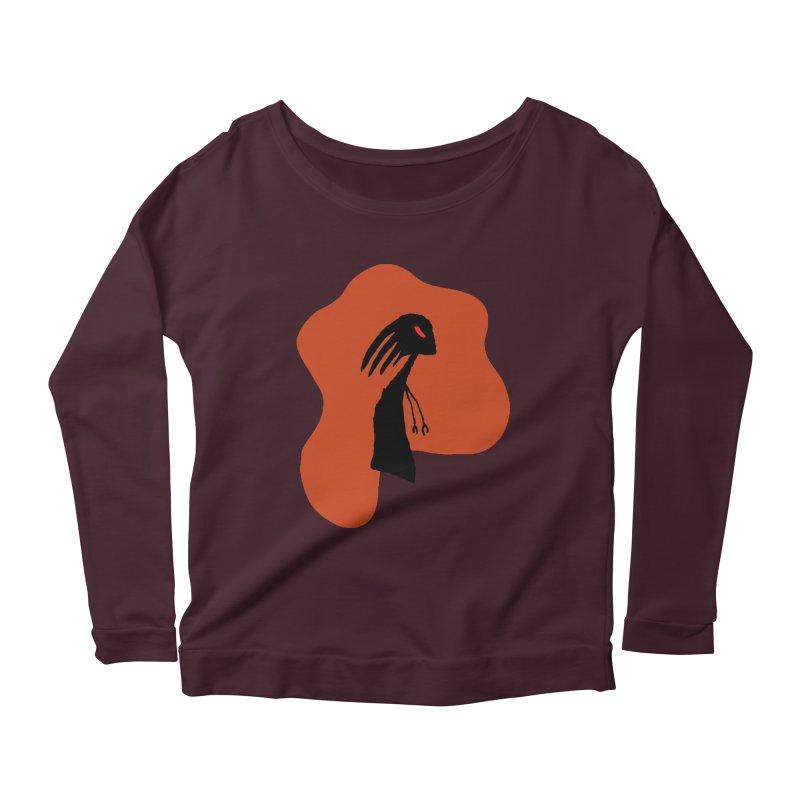 Rust Women's Longsleeve Scoopneck  by The Little Fears