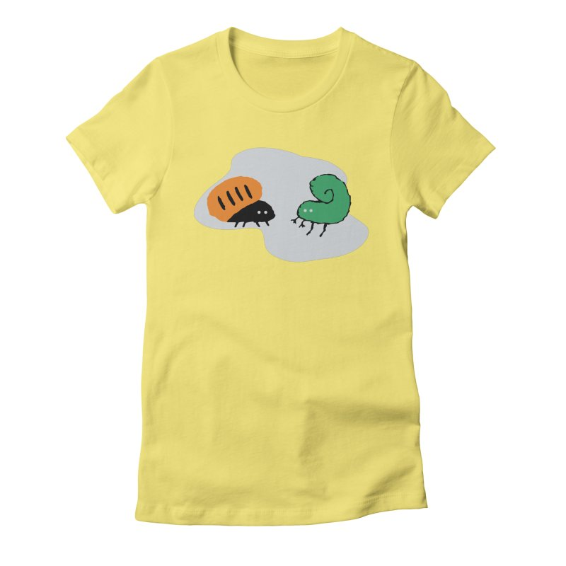 Bugged Women's Fitted T-Shirt by The Little Fears