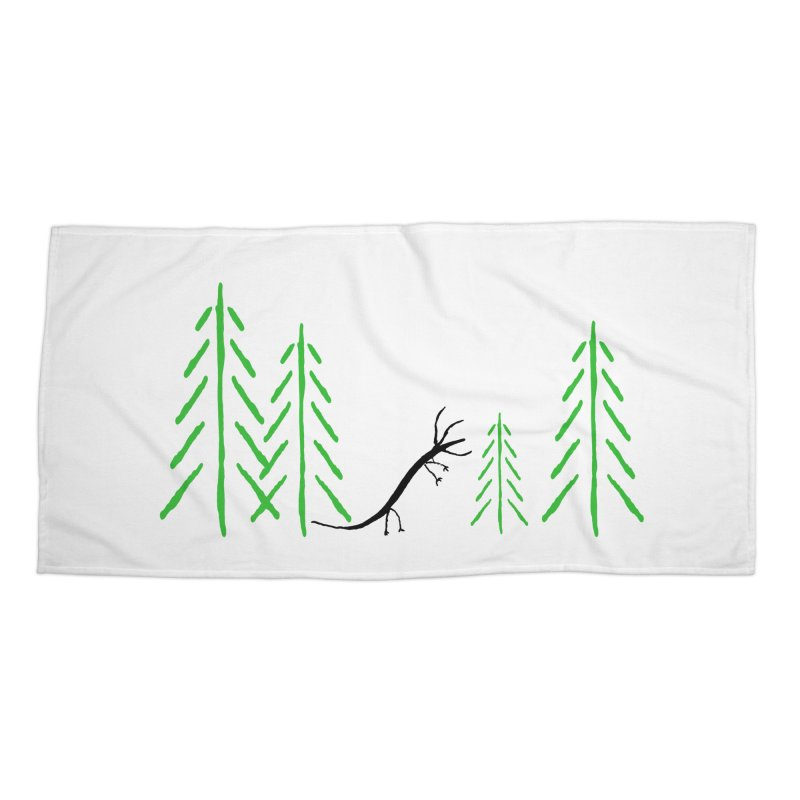 Hydras Forest Accessories Beach Towel by The Little Fears