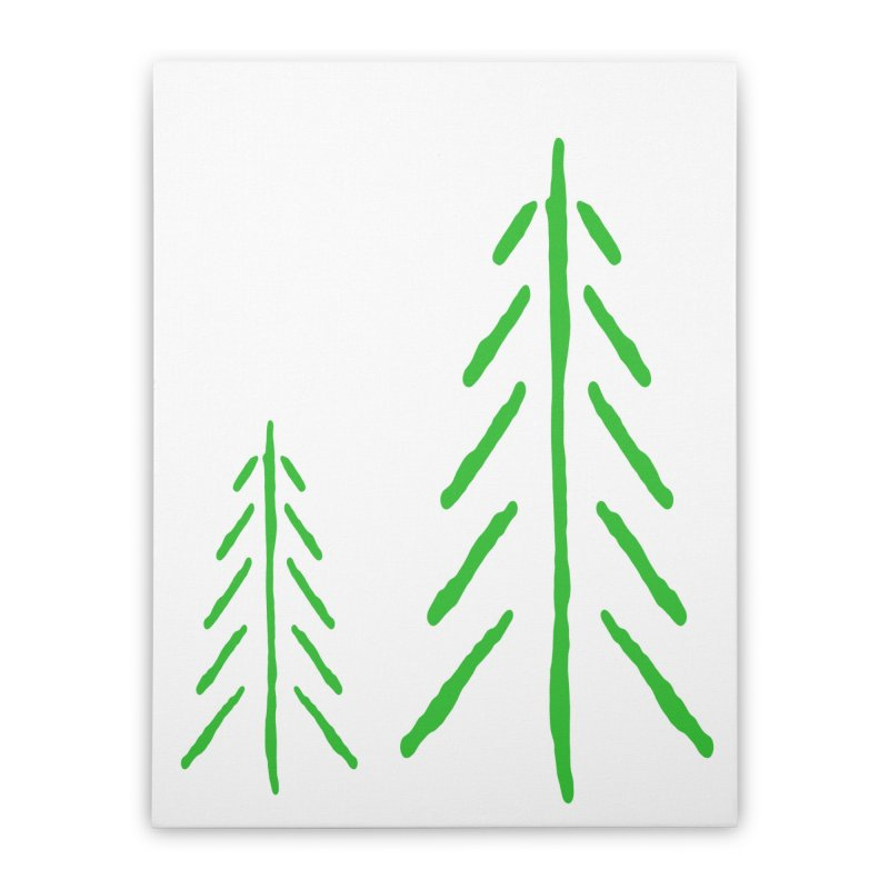 Spirit Wood Home Stretched Canvas by The Little Fears