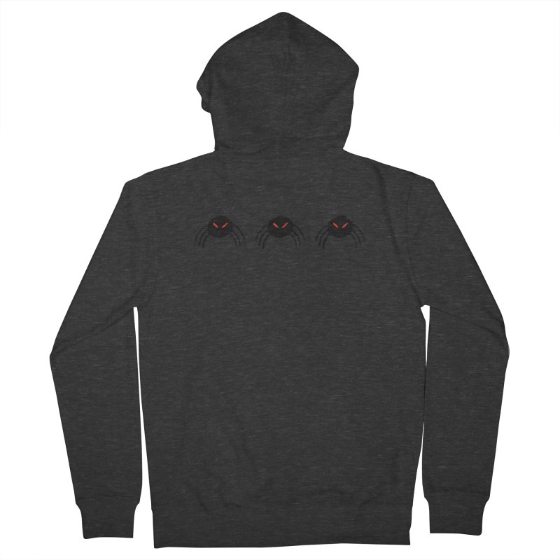 Spiders! Men's French Terry Zip-Up Hoody by The Little Fears